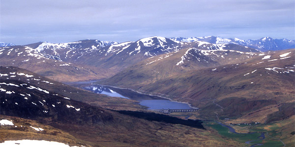 Loch Lyon and Glen Lyon, from the summit of Meall Ghaordaidh.