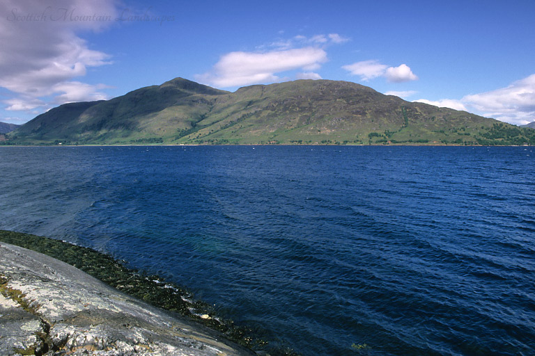 Sgurr na h-Eanchainne and Beinn na Cille, from the east side of Loch Linnhe.