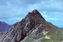 The summit of North Goatfell, from the south.