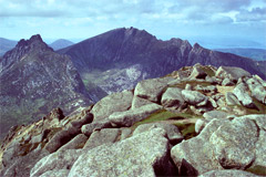 Cir Mhór, Caisteal Abhail and Ceum na Caillich (The Witch's Step), from North Goatfell.