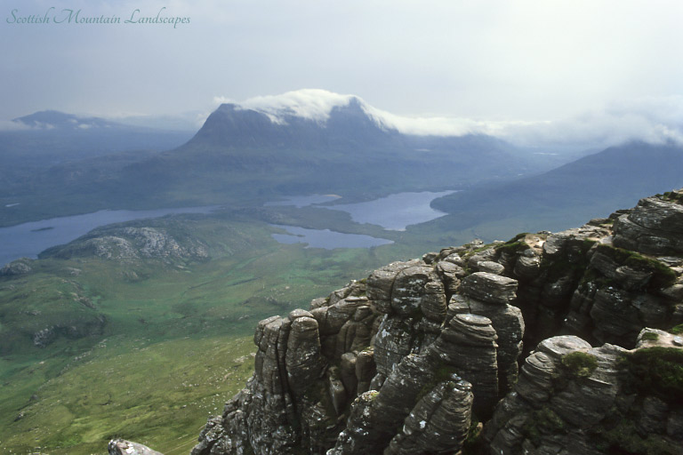 Canisp and Cul Mor, from Stac Pollaidh.