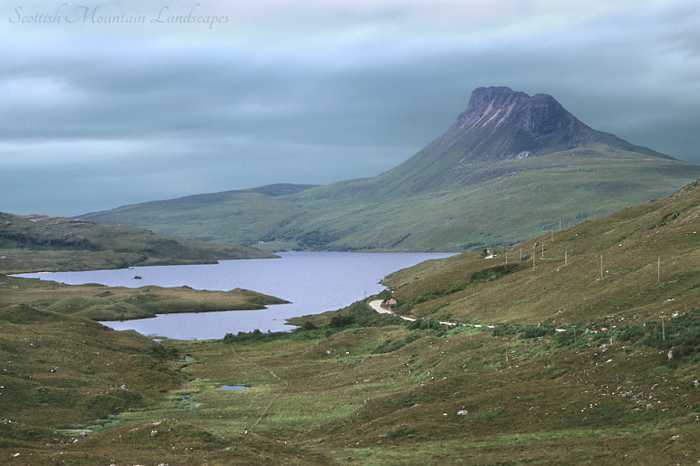 Loch Lurgainn and Stac Pollaidh, from the south-east.