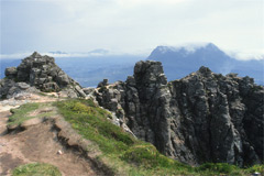 Suilven, Canisp and Cul Mor, from the summit of Stac Pollaidh.