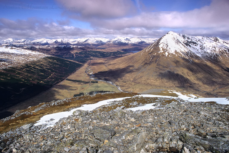 The Black Mount and Beinn Dorain, from the summit of Beinn Odhar.