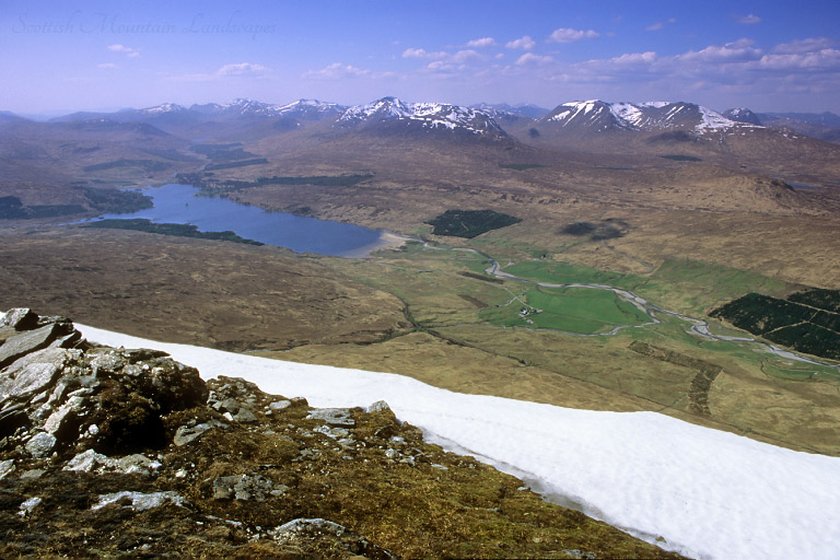 Loch Tulla and the Black Mount, from the summit of Beinn Achaladair.
