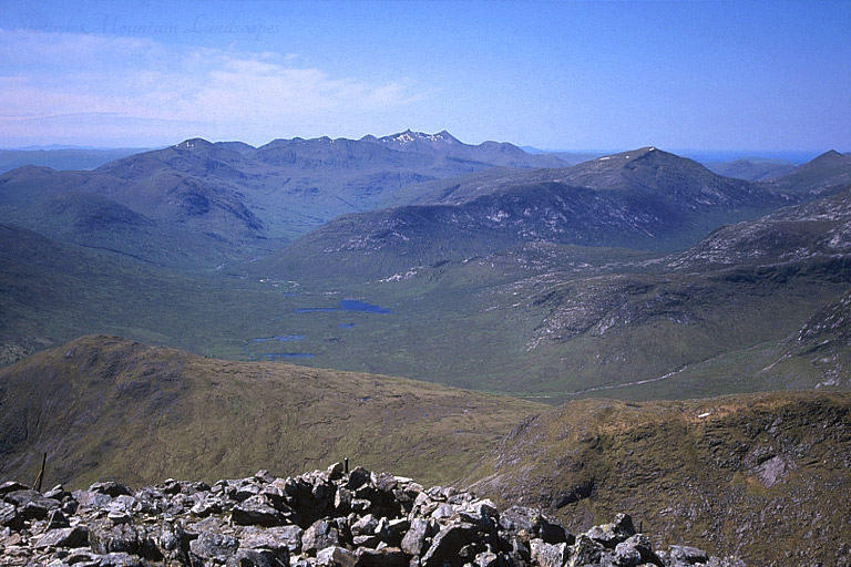 Looking south-west from the summit of Stob Ghabhar, down Glen Kinglass.