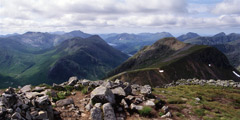 Looking south-west down Glen Etive from Stob na Doire.