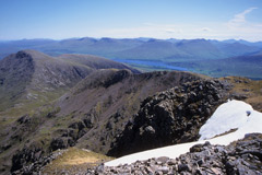 Loch Tulla and the Bridge of Orchy Hills, from the summit of Stob Ghabhar.