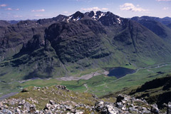 Bidean nam Bian and Loch Achtriochtan, from the summit of Sgorr nam Fiannaidh.