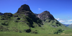 Two of the Three Sisters of Glencoe: Geàrr Aonach and Aonach Dubh.
