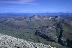 The Mamores, from Ben Nevis.