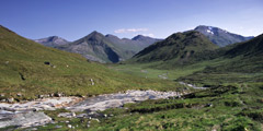 The Mamores, from Coire Giubhsachan.