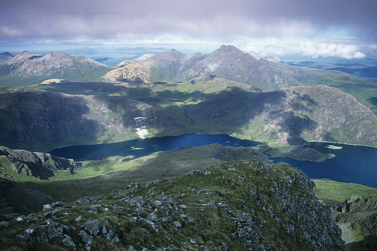 Loch Coruisk, from the summit of Sgùrr a' Choire Bhig on the Cuillin main ridge.