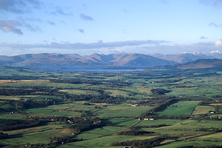 Loch Lomond and the Luss Hills, from the summit of Dumgoyne.
