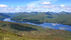 Looking over Loch Katrine to the Crianlarich Hills, from Ben Venue.