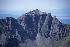The Northern Pinnacles of Mullach an Rathain, from Spidean a' Choire Léith.