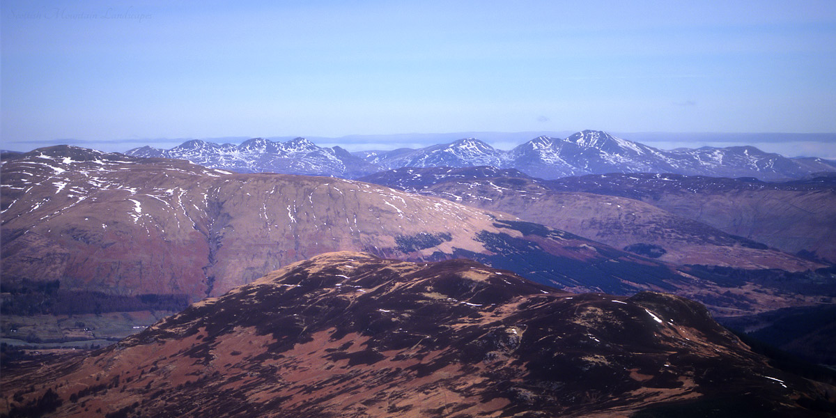 The Tarmachan Hills and Ben Lawers.