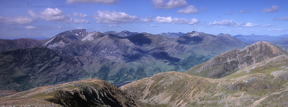 Ben Nevis and the Mamores.